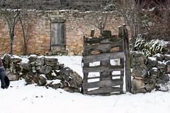 The door to nowhere (sunshineband) Tags: door espaa snow canon landscape spain ruins doors picasa2 picasa segovia toprural