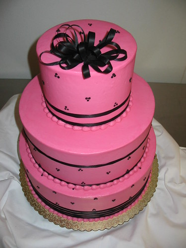 Black And Pink Wedding Cakes. pink wedding cake black