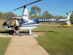 Helicopter and pilot (yewenyi) Tags: vacation holiday nt australia helicopter aus pilot nitmiluk katherinegorge oceania skysafari r44 vhhjv