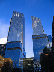 aol time warner (beatrice evangelista) Tags: blue newyork lines architecture buildings perspective midtown columbuscircle timewarner aol canona620 beatriceevangelista
