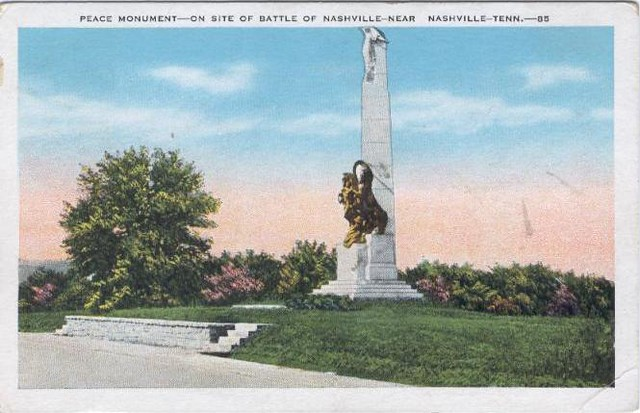 1930s Nashville Post Card: Battle of Nashville Monument