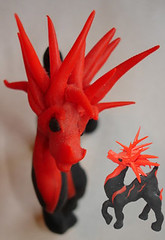 Spike (thyladyinred) Tags: sculpture horse art figurines fantasy clay sculpey