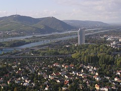 Vienna landscape, Austria (phototouring) Tags: vienna wien city houses panorama mountain mountains sterrei