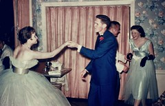 1953 Dance Party (Patrick Q) Tags: old family fashionspast party wallpaper music records color home topv111 vintage mississippi poster fun photography photo dance interestingness dress interior topv999 formal teenagers 123 scout 321 dressedup turntable retro livingroom explore prom photograph decorating 1950s formalwear curtains 50s hop date technicolor negativescan decor corsage 31 drapes iwant5 1950 comments kodacolor oldfamilyphotos filmscan midcentury promdress interestingness140 i500 views1000 pre1962americaincolor march52006 explore140 memoryofadress