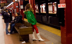wet paint (Runs With Scissors) Tags: nyc newyorkcity red green yellow subway mta wetpaint leatherpants newyorkcitysubway afewtoomanydrinksonaschoolnight