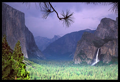 Tunnel View, Again - Yosemite Valley (Buck Forester) Tags: california canon landscape waterfall nationalpark scenery fuji view tunnel velvia waterfalls valley yosemite vista elcapitan overlook yosemitevalley elan7 elcap tunnelview bridalveilfall velvia50 wawonatunnel wawona gnd buckforester brianernst wawonatunnelview sierravisions