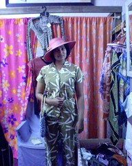 op shop queen (the doubtful guest) Tags: cameraphone hot dodgy prema pantsuit