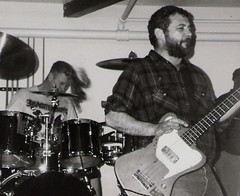 We jam econo: Hurley and Watt, 1993 (Shawn Econo) Tags: rock drums punk bass flannel thunderbird firehose laramie mikewatt georgehurley flyinghair thunderbroom