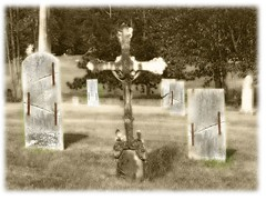 Briggsville (zenosaurus) Tags: cemeteries art abandoned church cemetery grave dead death catholic cross decay surrealism tomb surreal graves minimalism surrealistic bizarre minimalist necropolis