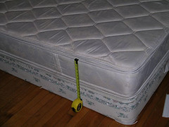 mattress and boxspring.