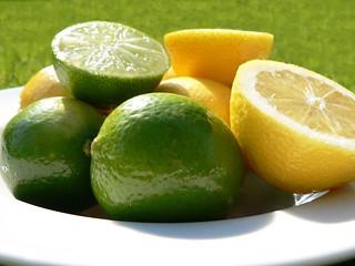 A big bowl of juicy lemons and limes!