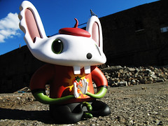 Bunniguru by nathan j. (Drew from the Slope) Tags: sculpture macro art toy toys kidrobot urbanvinyl flyingcat jurevicius