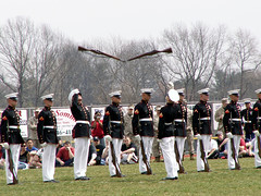 How Great Is This?  The Marine Corps Silent Drill Team (Sister72) Tags: usa newjersey fantastic marine nj rifles professional gloves marines uniforms monmouthcounty sister72 drillteam marinecorps drill medals excellence unitedstatesmarinecorps coltsneck monmouthcountynj silentdrillteam bayonets 123nj april12006 coltsneckhighschool servicetoamericaday marinecorpssilentdrillteam freeholdregionalhighschooldistrict navyjrotcacademy meninuniforms 123njpeople