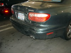 What could have done this kind of damage? (Plaid Ninja) Tags: car wtf melted omg destroyed corroded omgwtf
