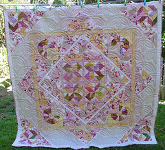 """In the Pink"" (tirralirra) Tags: quilt machine medallion"