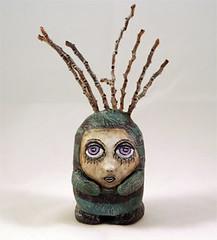 Palm Gothic Doll (darksidedolls) Tags: doll gothic clay polymer