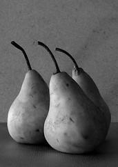Bosc Pears (espion) Tags: blackandwhite stilllife topf25 500v20f 100v10f lowkey 1000v 123bw boscpears apex1 xgf02 x0201 x0202 x0203 x0204 x0205