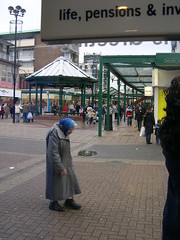 Tiny old woman, Corby UK 2004: fuck off Tories! (Eleventh Earl of Mar) Tags: uk england death town pain northampton centre fear poor scottish tragedy gb oldwoman misery accents corby margaretthatcher scots conservatives travesty precinct tories graft twats whatalife underclass toil rubbishbritain dispossessed shitbritain underpriveleged thatcherslegacy thingsthatmakebritaingreat blairsbloodybritain makeherlifegood
