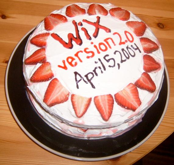 WiX Release Cake
