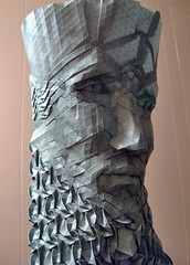 another bearded fellow (origami joel) Tags: sculpture paper origami mask sold joel tessellation folding origamijoel
