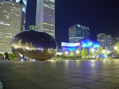 Cloudgate Sculpture (SemperNovus) Tags: longexposure chicago millenniumpark cloudgate thebean f707 sempernovus 1815photography desktop21 gtshowcase
