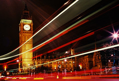 On Holiday with the Trons (Reasonable Jim) Tags: uk longexposure inglaterra red england white london tower clock westminster yellow night rouge lights timelapse rojo europe parliament bigben fave londres angleterre comment merah westminsterpalace ijl reasonablejim