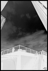 once upon a deck (MerlinsMan) Tags: bw chicago negative upshot citiscape