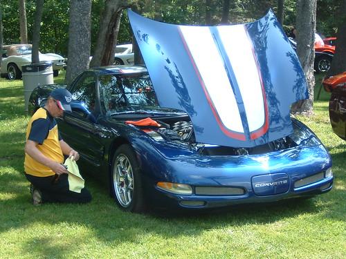 Barry and Susan Armsrong's beautiful 2004 blue hardtop