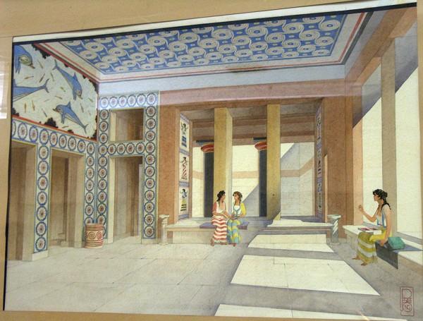 Interpretación del Megalón de la Reina, Knosos