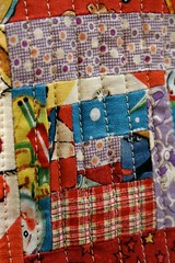 detail (Rosa Pomar) Tags: logcabin quilt quilting fabric textile stitches patchwork