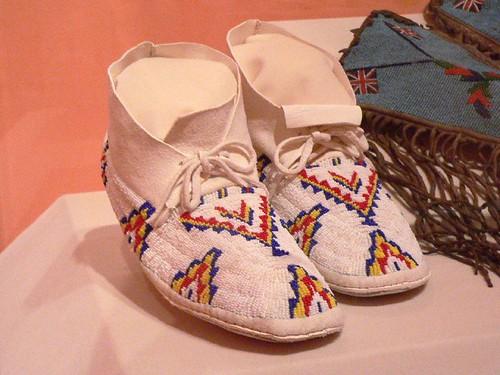 american cheyenne indian moccasins footwear leather beaded universityofutahmuseumofnaturalhistory
