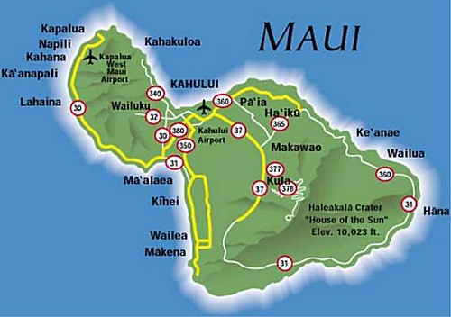 Maui, Hawaii Map