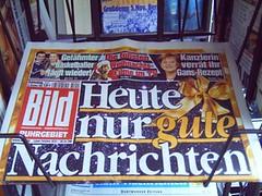 B*ld-Schlagzeile »Heute gibts nur gute Nachrichten« (2005)