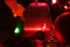 Twas the night before christmas (SouthernBelladonna) Tags: christmas xmas macro topv111 lights christmastree ornament southernbelladonna xmastree nightbeforechristmas kimmurrell