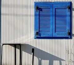 Greek blue (ido1) Tags: blue white beach window greece shutter top20windows greekblue top20greece