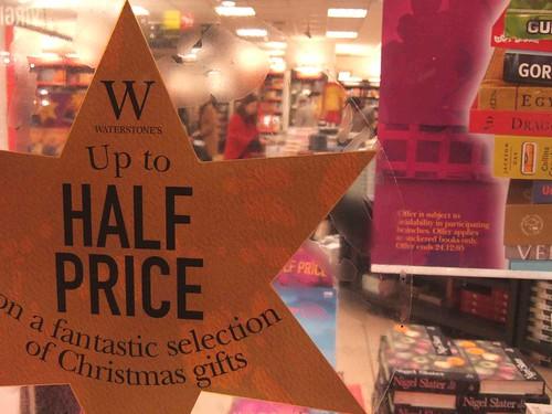 I hate it when they only give half price on hardbacks and not paperbacks