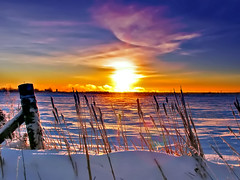Soleil Levant* (Imapix) Tags: voyage morning travel blue winter sunset sky sun snow canada cold art nature clouds sunrise canon fence wow photography dawn soleil photo interestingness bravo foto photographie image quebec gutentag quality smoke qubec aurora stunning goodmorning sunup coucherdesoleil cattail aurore firstlight coldness imapix dayspring pointdujour topfavpix soleillevant breakofday coskrow gatangbourque gatanbourque copyright2006gatanbourqueallrightsreserved gaetanbourque pix50 pix100 world100f imapixphotography gatanbourquephotography