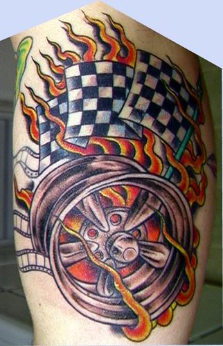 Mag Wheel Tattoo