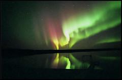 aurora (Marlis1) Tags: lake canada reflection topf25 wow nightshot aurora saskatchewan northernlights auroraborealis marlis1 vision100