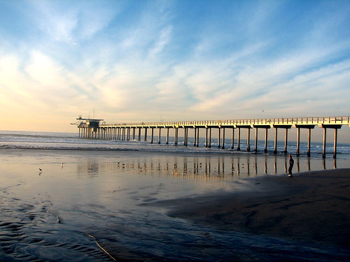 Scripps Pier in San Diego - December 21, 2005 Winter Solstice