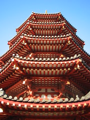 Kawasaki Daishi Pagoda (mtyto) Tags: blue red sky 15fav colour japan architecture canon temple pagoda shrine kawasaki  ixy canonixydigitall2 canonpowershotsd20 230countriesjapan mtyto canondigitalixusi5