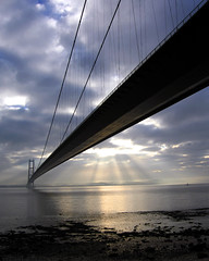 Sun Burst (Tall Guy) Tags: uk bridge england canon wow landscape photography photo photos britain gutentag yorkshire photograph enjoy 50100fav sunbeams humberbridge humber mostfavourited tallguy
