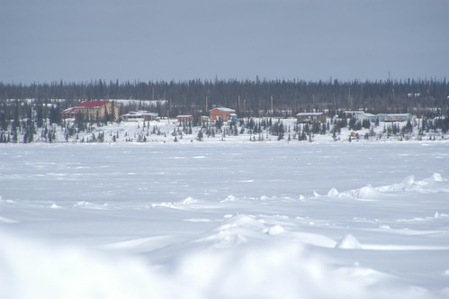 The Great Bear Lake frozen