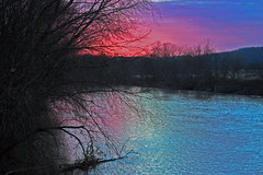 sunset on the scioto (jaki good miller) Tags: pink blue sunset sky nature water beautiful tag3 taggedout river ilovenature interestingness perfect tag2 tag1 lovely1 gorgeous explore exploreinterestingness jakigood pikecounty 1000views 1on1 top500 explorepage explored explorepages skiesandscapes