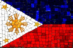 Pilipinas (Farl) Tags: flag mosaic downtown manhattan koreanwarmemorial colors red white blue star sun bandila identity philippines newyork nyc ny usa us battery park