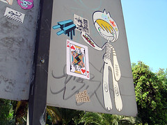 Cerro Santa Lucia (Supersentido) Tags: stickers chile santiago street art pece supersentido