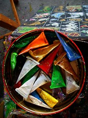 Colours for painting umbrellas (Xos Castro) Tags: colors painting thailand asia colours tailandia colores thai pintura tailandesa tailands