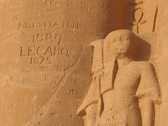 19th Century graffiti at Abu Simbel