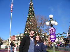 Christmas in the Magic Kingdom (unsupervised) Tags: wedding lisa 2006 disney lou wdw waltdisneyworld weddingplanning disneywedding disneychristmas waltdisneyworldchristmas wdwchristmas magickingdomchristmastree