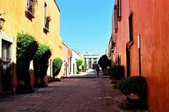 Quertaro Street (AndrewNZ) Tags: street houses topv111 mexico calle topv555 topv333 topv1111 topv999 topv444 topv222 topv777 casas topv666 november2004 stonepavement topv888 quertaro pavimentodepiedra